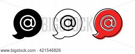 The Character Set For The Dog In The Speech Bubble Is @. The Internet Symbol Is The Separator Betwee