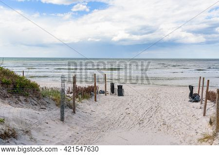Sandy Path To The Beach Through The Dunes At Baltic Sea