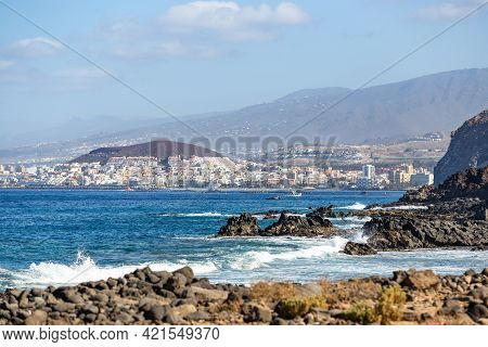 Panoramic View From Coast Line On Los Cristianos