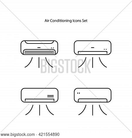 Air Conditioning Icon Isolated On White Background. Air Conditioning Icon Thin Line Outline Linear A