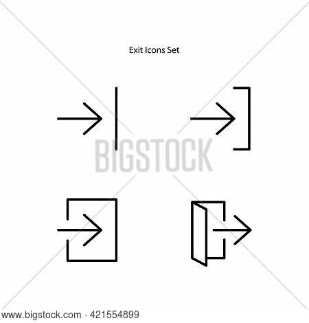 Exit Icon Isolated On White Background. Exit Icon Thin Line Outline Linear Exit Symbol For Logo, Web