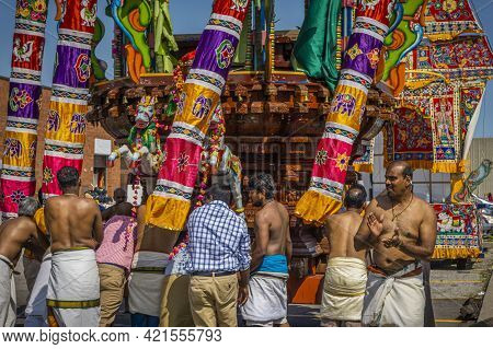 Toronto, Canada, August 2015 - Annual Vinaayagar Chariot Festival Celebrated By The Tamil Community