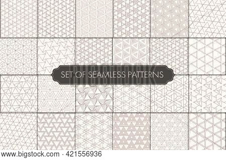Repeat Line Graphic Black Design Texture. Seamless Modern Vector White Shapes Pattern. Seamless Geom
