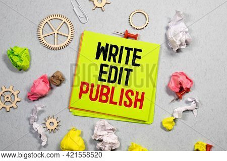 Conceptual Hand Writing Showing Self Publish. Business Photo Showcasing Published Work Independently