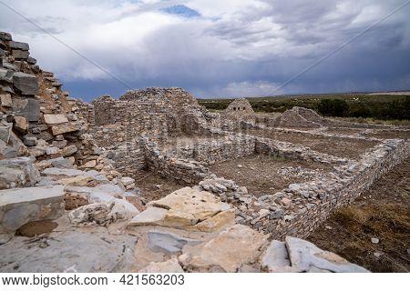 Ruins At Gran Quivira Ruins, An Historical Spanish Missions At Salinas Pueblo Missions National Monu