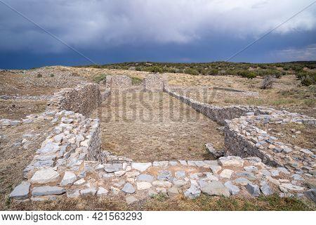 Mission Church Ruins At Gran Quivira Ruins, An Historical Spanish Missions At Salinas Pueblo Mission