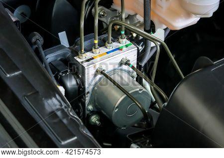 Anti Lock Brake System (abs) Control Unit Box Of Car.