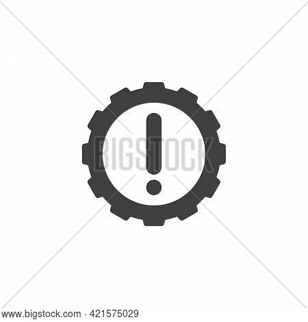 Powertrain Indicator Vector Icon. Filled Flat Sign For Mobile Concept And Web Design. Automotive Pow