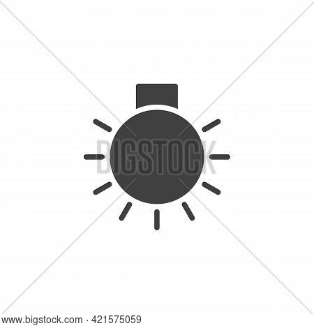 Car Master Lighting Vector Icon. Filled Flat Sign For Mobile Concept And Web Design. Lamp Light Glyp