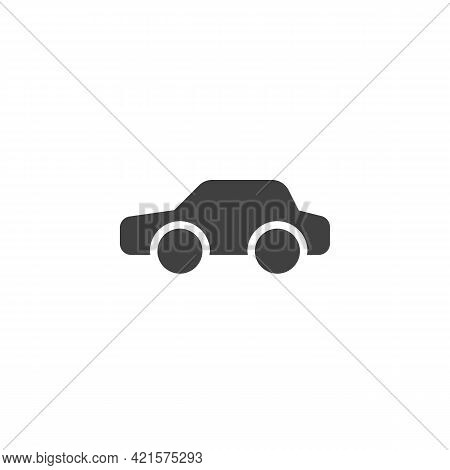 Car, Transportation Vector Icon. Filled Flat Sign For Mobile Concept And Web Design. Sedan Car Glyph