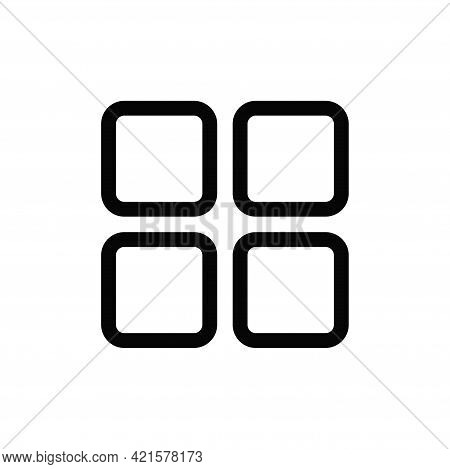Squares Icon Isolated On White Background. Squares Icon In Trendy Design Style For Web Site And Mobi