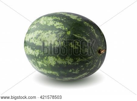 Slices Of Ripe Watermelon On A Plate. Triangular Watermelon Slices. Healthy Food Concept
