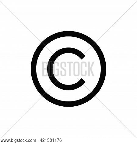Copyright Icon Isolated On White Background. Copyright Icon In Trendy Design Style For Web Site And