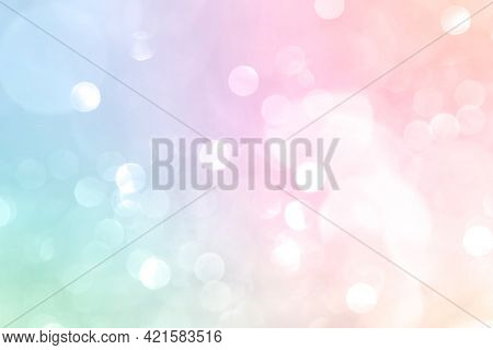 Pastel colorful gradient with Bokeh light background