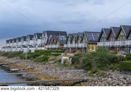 Residential Cottages On The Shores Of The Baltic Sea