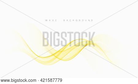 Transparent Yellow Flow Abstract Wavy Shapes Template Brochure, Poster, Banner, Presentation.