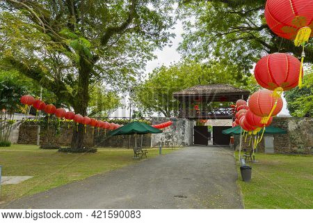 The Entrance To Fort Cornwallis In Georgetown , Penang, Malaysia.