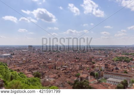 View Of The Historic Center Of Brescia City Lombardy, Italy (tilt-shift Effect)
