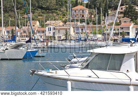 Port In Saint Mandrier Sur Mer, South Of France