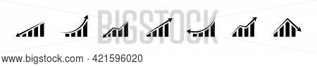 Business Infographic Concept Icons. Growing Graphs Icon Set. Different Statistic Graphs. Statistics,