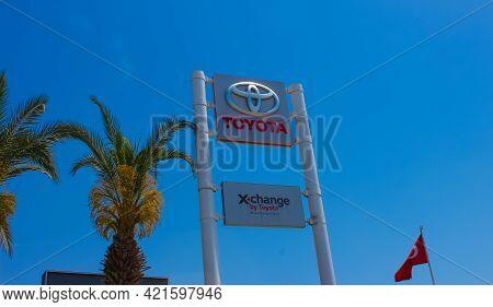 Antalya, Turkey - May 11, 2021: The Toyota Salon Or Shop At Kemer