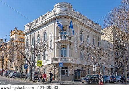 Belgrade, Serbia - February 23, 2021: Greece Embassy Building In Old Belgrade, Serbia.