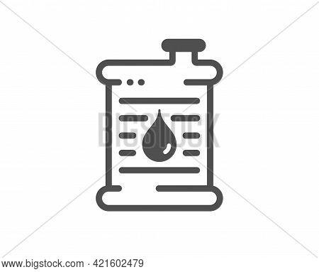 Barrel Of Oil Simple Icon. Gasoline Or Diesel Fuel Sign. Petroleum Power Energy Symbol. Classic Flat