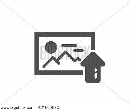 Upload Photo Simple Icon. Image Thumbnail Sign. Picture Placeholder Symbol. Classic Flat Style. Qual
