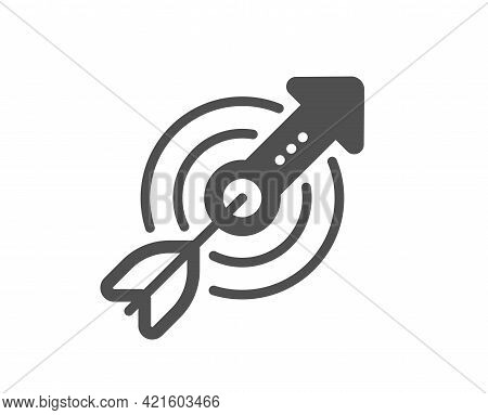 Target Aim Simple Icon. Financial Target Sign. Business Objective Symbol. Classic Flat Style. Qualit