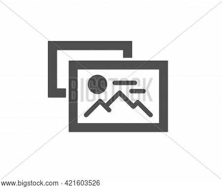 Photo Images Simple Icon. Image Album Thumbnail Sign. Picture Gallery Placeholder Symbol. Classic Fl