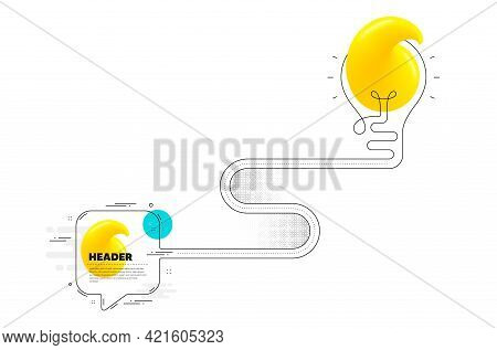 Continuous Journey Path With Quote Lightbulb. 1 Step Level Up Timeline Of Business Process. Infograp