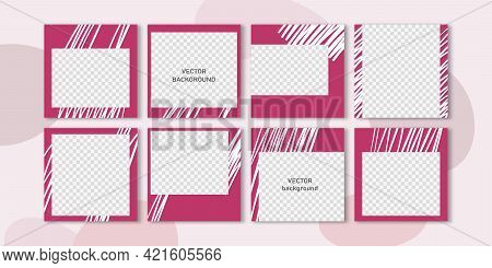 Trendy Vector Set For Social Media, Social Network Stories And Post, Mobile Apps, Banners, Web Ads.