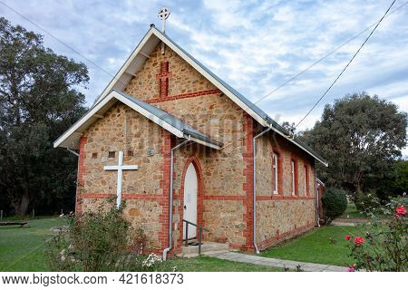 Serpentine, Western Australia - June 25, 2018: Small St Stephens Anglican Church Made From Stones In