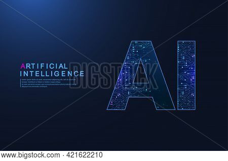 Artificial Intelligence And Machine Learning Vector Symbol. Artificial Intelligence Wireless Technol