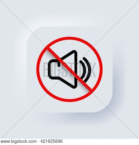 Silent Mode Of Smartphone. Vector. Volume Off Or Mute Mode Sign For Smartphone. Dynamic Sign. A Symb