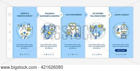 Personal Brand Rules Onboarding Vector Template. Responsive Mobile Website With Icons. Web Page Walk