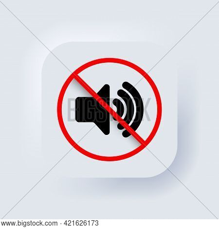 Volume Off Or Mute Mode Sign For Smartphone. Silent Mode Of Smartphone. Vector. Dynamic Sign. A Symb