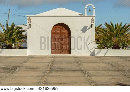 The Colonial Church Near Orzola At The Canary Island Of Lanzarote, Spain