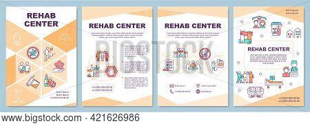 Rehab Center Brochure Template. Patient Addiction Treatment. Flyer, Booklet, Leaflet Print, Cover De
