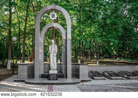 Kherson, Ukraine - July 22, 2020: Sculpture