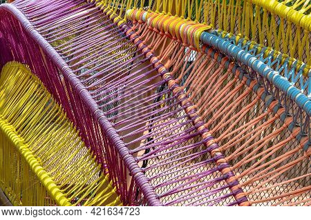 Braided Colorful Ropes, Soft And Flexible Rope Suitable For Outdoor Use. Beautiful Cotton Rope Woven