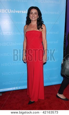 LOS ANGELES - JAN 06:  JENNI PULOS arriving to TCA Winter Press Tour 2012: NBC Party  on January 06, 2012 in Pasadena, CA