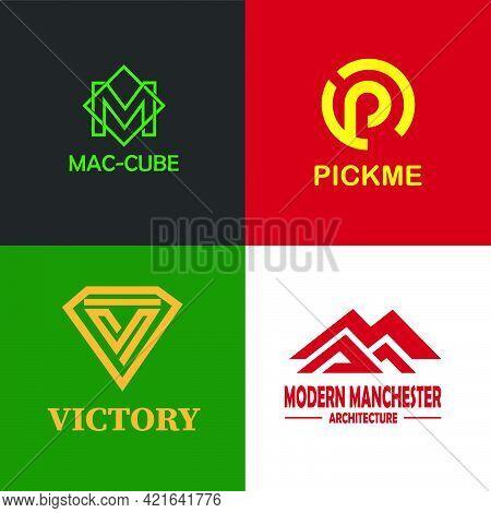 Modern Clean Minimalist Monogram Logo Letters M, P, V And Mma
