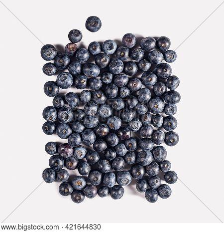 Fresh Blueberries Food Closeup. Healthy Food. Vegetarian Food. Nutritious Food. Fresh Blueberries Fr
