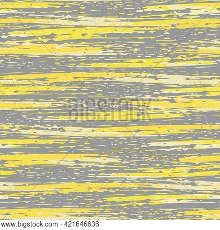 Abstract Striped Painterly Vector Seamless Pattern Background. Backdrop With Blended Irregular Horiz
