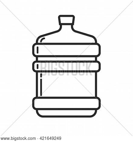 Big Bottle Of Water For Delivery Icon Vector Or Large Bottled Gallon Line Outline Art Style Clipart