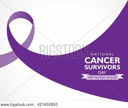Vector Illustration Of Cancer Survivors Day Observed On First Sunday Of June.
