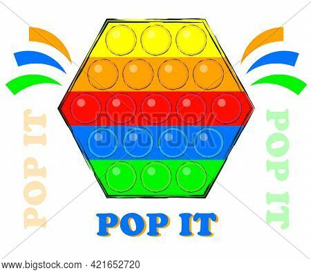Pop It Bright Popular Novelty Antistress Toy For The Development Of Fine Motor Skills Of Fingers In