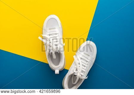 White Sports Sneakers Isolated