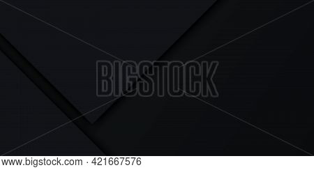 Modern Abstract Dark Luxury Geometric Background With Shadow. Geometry Dark Papers Flat Lay Composit